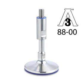 GN 20 Hygienic Design Leveling Feet, without Mounting Holes