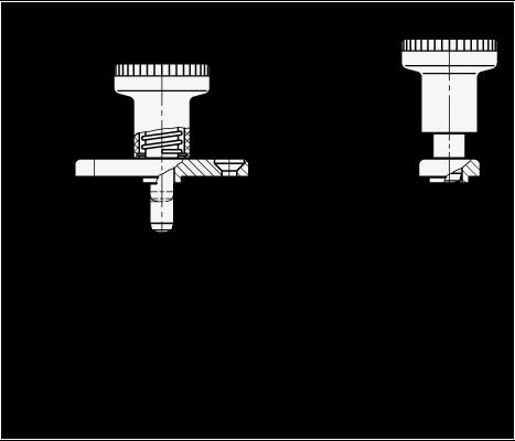GN 608.5 Posicionadores de indexado con pasador de posicionador de acero inoxidable, placa de montaje, sin bloqueo boceto