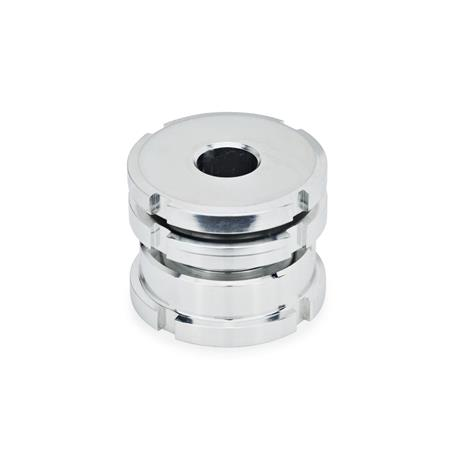 GN 350.1 Steel or Stainless Steel Leveling Sets, Short Model Material: ST - Steel Type: AK - With lock nut