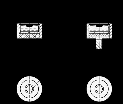 GN 2279 Niveles de ojo de buey de aluminio, para montaje en superficie boceto