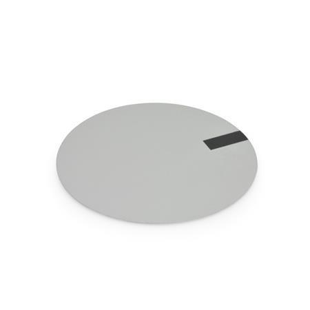 GN 226.1 Aluminio discos de cubierta, por perillas de control moleteadas GN 226, con o sin símbolo Tipo: A - con símbolo negro