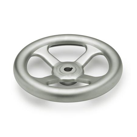 GN 227.4 A4 Stainless Steel, Spoked Handwheels Bore code: K - With keyway Type: A - without handle