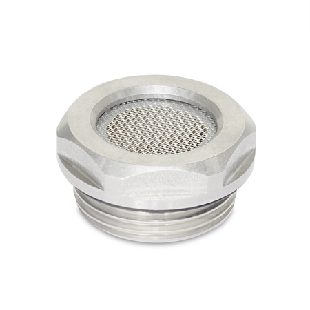 GN 7403 Stainless Steel Breather Strainers, with Stainless Steel Mesh