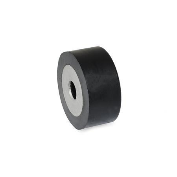 GN 454 Soportes de absorción de vibración/impacto, con arandela de retención de acero inoxidable