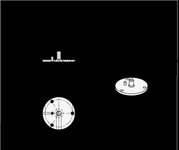 GN 784.1 Bridas de acero inoxidable, para rótulas giratorias GN 784 boceto