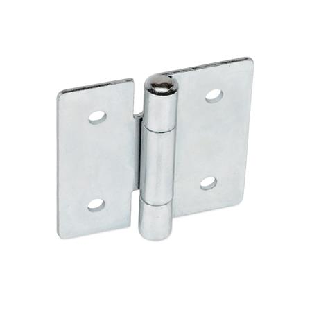 GN 136 Steel Sheet Metal Hinges, With Bores for Cylinder Head Screws or Countersunk Screws Material: ST - Steel<br />Type: B - With through holes