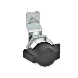 GN 115.1 Mini cerraduras de zinc fundido a presión Material: ZD - Zinc fundido a presión<br />Tipo: SK - Funcionamiento con llave de apriete