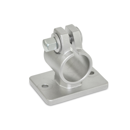 GN 146.6 Stainless Steel, Flanged Connector Clamps, With Two Mounting Holes