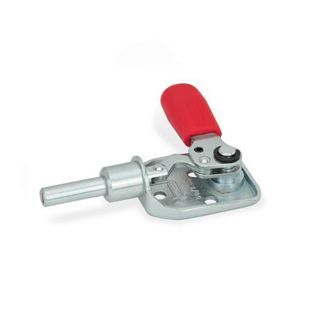 GN 840 Abrazaderas de palanca de presión-tracción, de acero Tipo: ASD - Sujetar girando la empuñadura a la izquierda