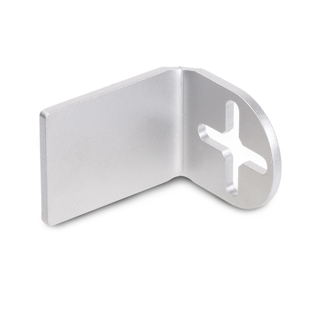 GN 479.1 Stainless Steel, Plain L-Shaped Mounting Brackets