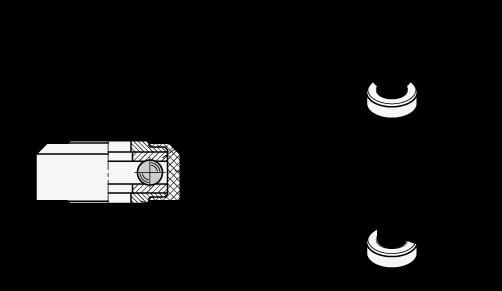 EN 6344 Anillos de arandela de acero / acero inoxidable con cojinete de bolas axial, con alojamiento de plástico boceto