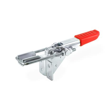 GN 851.2 Steel Latch Type Toggle Clamps, Support base vertical, clamping arm horizontally Type: T4 - with U-bolt latch, with catch