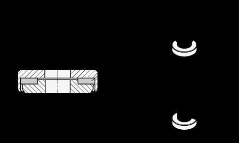 GN 6342 Arandelas de acero con cojinete de fricción axial boceto