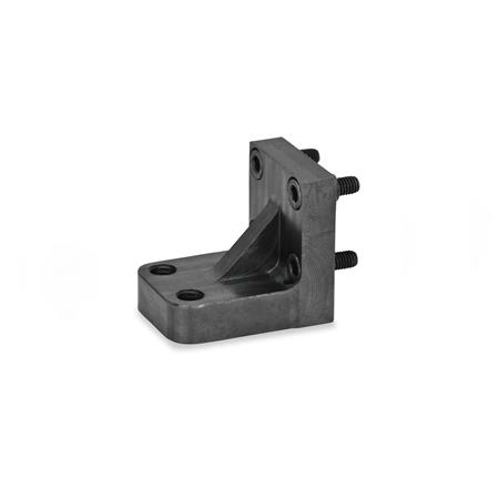 GN 867.1 Single Post Bracket / Bracket Accessories for pneumatic fastening clamps Type: Z - for two clamping bolts