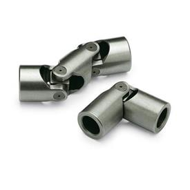 DIN 808 Steel Universal Joints with Friction Bearing, Single or Double Jointed