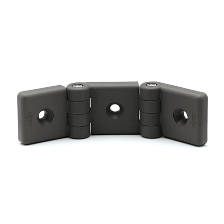 EN 159.1 Plastic Double Hinges, For Use with Profile Systems