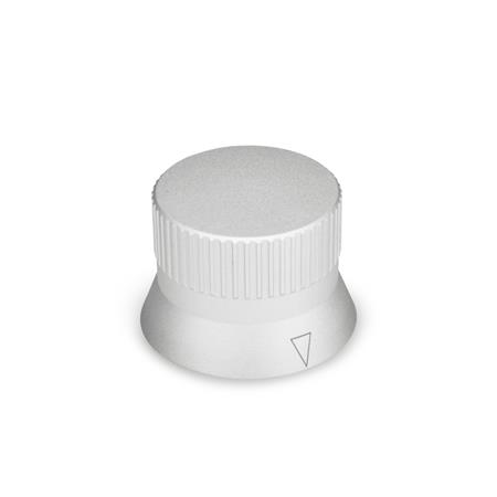 GN 723.4 Metric Size, Aluminum, Knurled Control Knobs, WIth Socket Set Screw  Type: M - with arrow