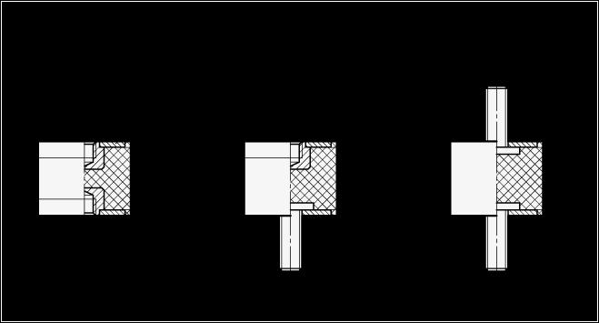 GN 351 Soportes aisladores de vibración, de tipo cilíndrico, con componentes de acero boceto