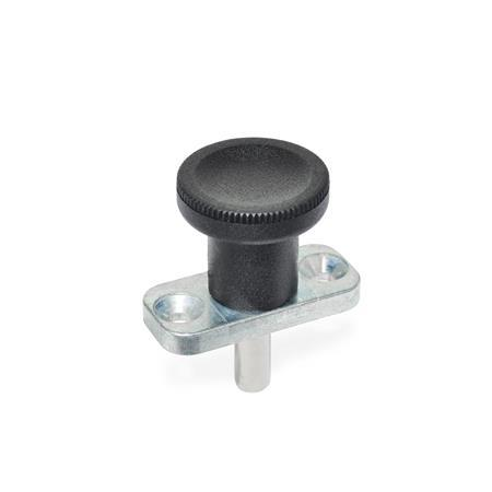 GN 608.5 Indexing Plungers with Stainless Steel Plunger Pin, Plate Mount, Non Locking Type