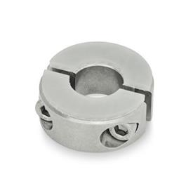 GN 7072.3 Stainless Steel Two-Piece Split Set Collars, with Damping Washer