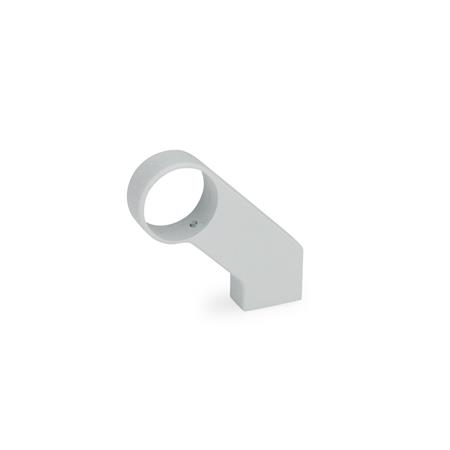 GN 333.8 Zinc Die-Cast Angled Handle Legs, for Tubular Handles Finish: SR - Silver, RAL 9006, textured finish