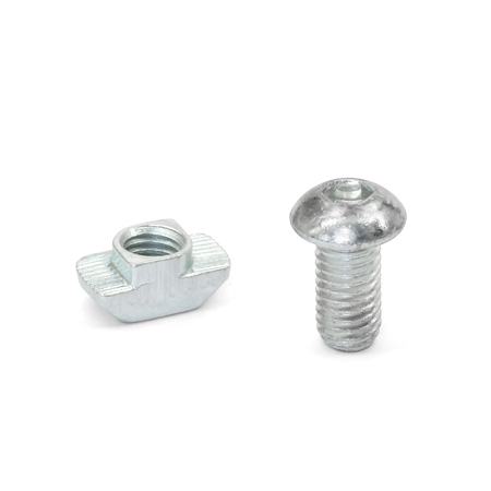 GN 968 Steel T-Nut Assemblies, For 30/40/45 mm Aluminum T-Slot Profile Systems