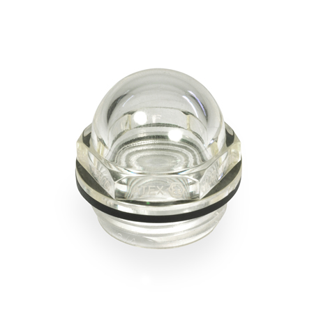 EN 546.6 ATEX Explosion Protective Plastic Dome-Shaped Fluid Level Sight Glasses