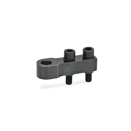 GN 867 Single Post Coupling / Y-Coupling Accessories for pneumatic fastening clamps Type: E - for one clamping bolt