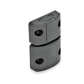 EN 449 Mecanismos de bloqueo para puertas con picaporte con muelle de plástico Tipo: A - Cierre a presión, sin trabe, sin agarradera<br />Color: SW - Negro, acabado mate