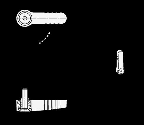GN 720 Cierres de bloqueo de zinc fundido a presión boceto