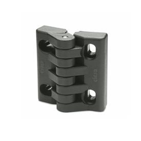 EN 151.4 Technopolymer Plastic Hinges, With Slotted Holes
