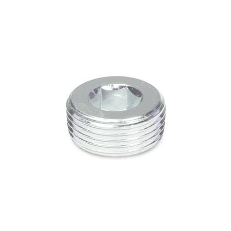 DIN 906 Steel Threaded Plugs, with Tapered Thread