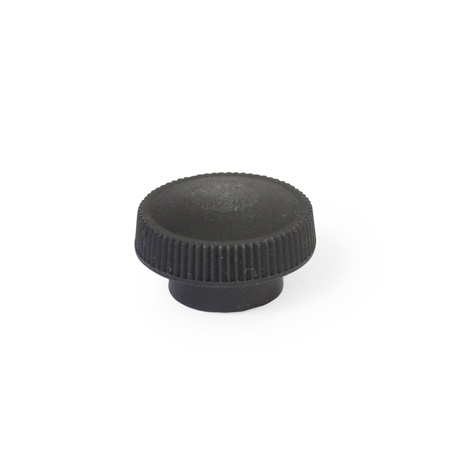 ZB Nylon Plastic, Knurled Knobs, with Tapped and Blind Bore