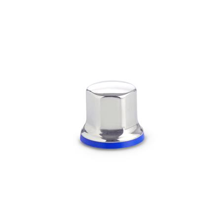 GN 1580 Hygienic Design Nuts Finish: PL - Polished finish (Ra < 0.8 µm)