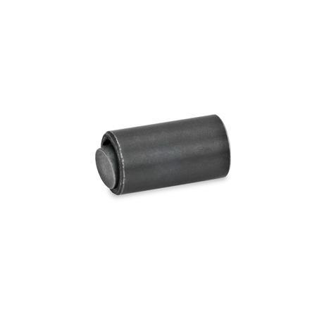 GN 709.7 Almohadillas de sujeción de acero, con junta tórica Tipo: B - Bola de acero, cara de contacto lisa