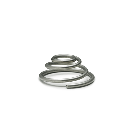 GN 187.2 Stainless Steel Conical Thrust Springs, for Serrated Locking Plates GN 187.4 / GN 189