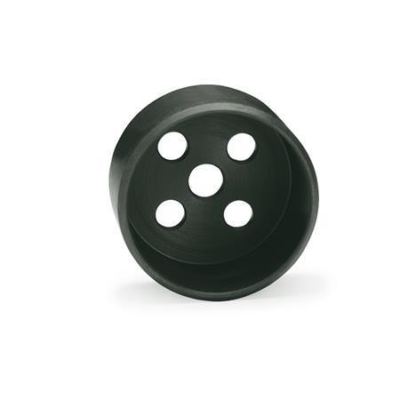 GN 187.1 Alojamiento guía de acero Material: ST - Acero