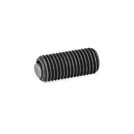 GN 709.8 Almohadillas de sujeción de acero, ajustables, con junta tórica Tipo: B - Bola de acero, cara de contacto lisa