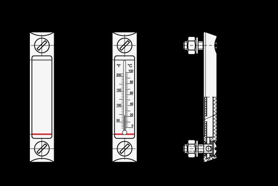 EN 650.1 Indicadores de nivel de líquidos de columna de plástico boceto