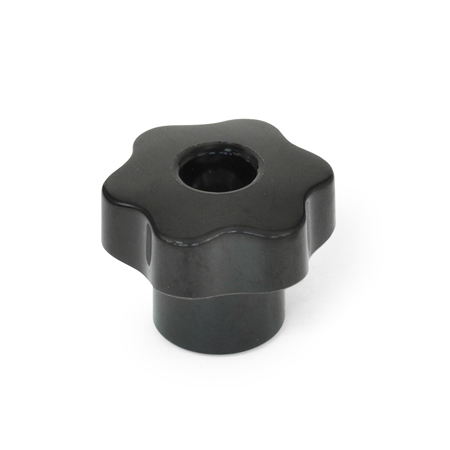 VB-FP Solid Phenolic Plastic, Six-Lobed Knobs, with Tapped Through Hole Insert
