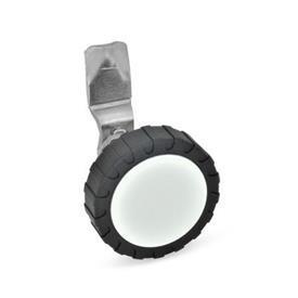 GN 115 Pestillos de acero inoxidable, operación con elementos de funcionamiento Material: NI - Acero inoxidable<br />Form: RG - Funcionamiento con perilla moleteada GN 7336