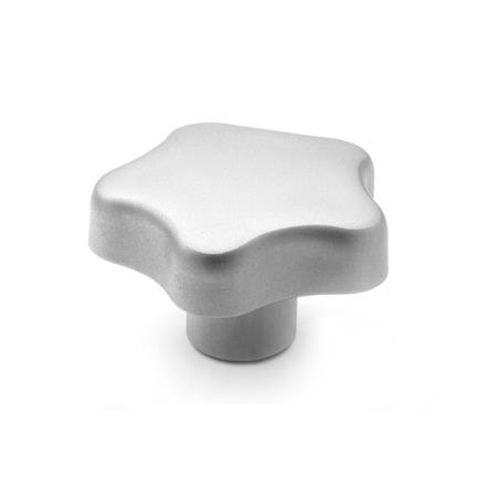 GN 5334 Stainless Steel, Star Knobs, Tapped or Blind Bore Type