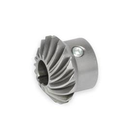 GN 297 Steel Bevel-Gear Wheels, with Spiral Bevel for Linear Actuators / Transfer Units with Angular Gears