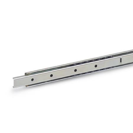 GN 1400 Steel Telescopic Slides, with Partial Extension, Load Capacity up to 62 lbf