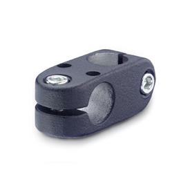 GN 131.1 Abrazaderas para conectores de dos vías de actuadores lineales, medidas métricas, aluminio, para sistema de actuación lineal único