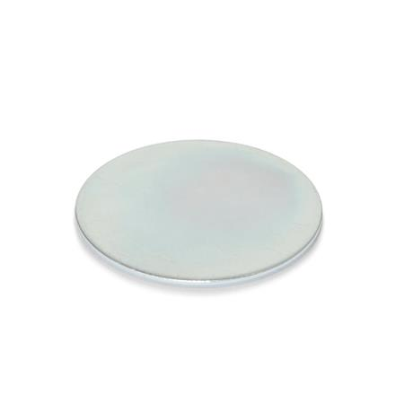 GN 70.1 Steel Self-adhesive discs, for retaining magnets
