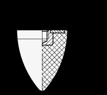GN 353.2 Soportes de absorción de vibración/impacto, de tipo cónico, con componentes de acero boceto