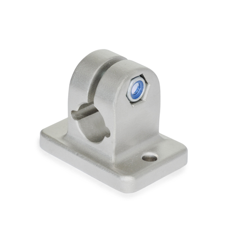 GN 145 Stainless Steel, Flanged Connector Clamps