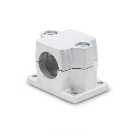 GN 147 Aluminum Split Assembly,  Flanged Connector Clamps, Round or Square Bore Type
