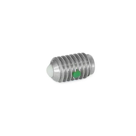 SBPNB Stainless Steel Ball Plungers, With Nylon Ball